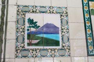 富士山のタイル画
