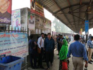 バングラデシュのチケットコーナー